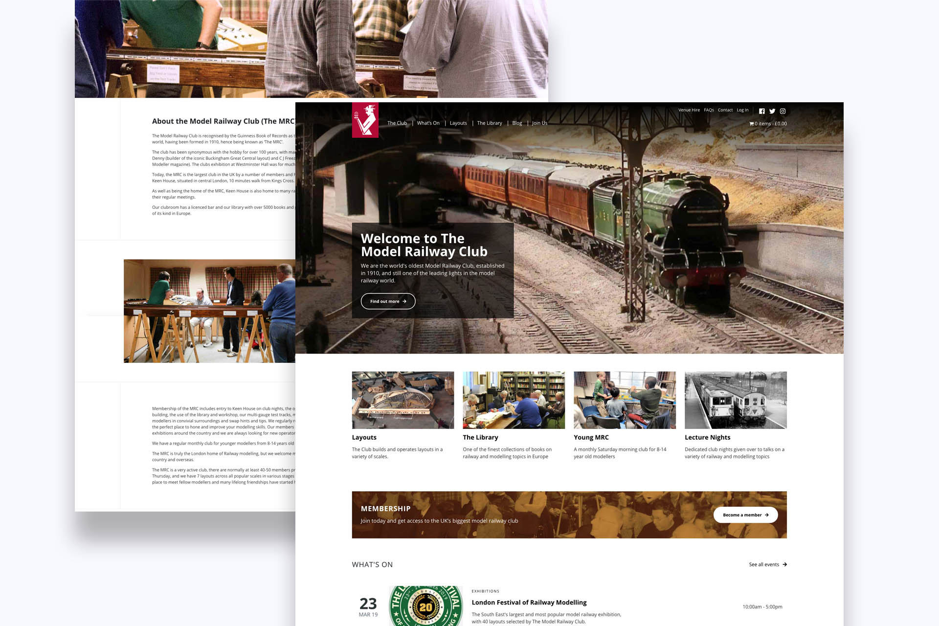 New membership website for The Model Railway Club